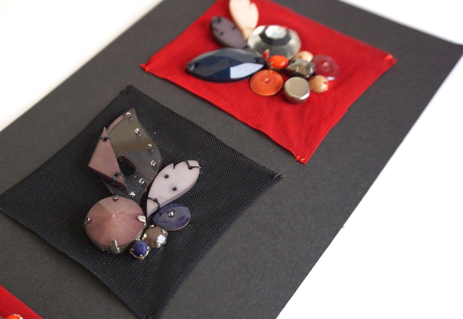 Essai brodeur – Broderies Sonia Rykiel – Perles fleurs  – Prefall 2013 – 2