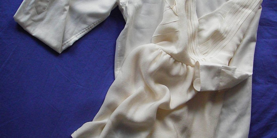 La valse des maries - Robe en crepe de soie ecru - Details de plis - Dos nu et plisse - Alice C
