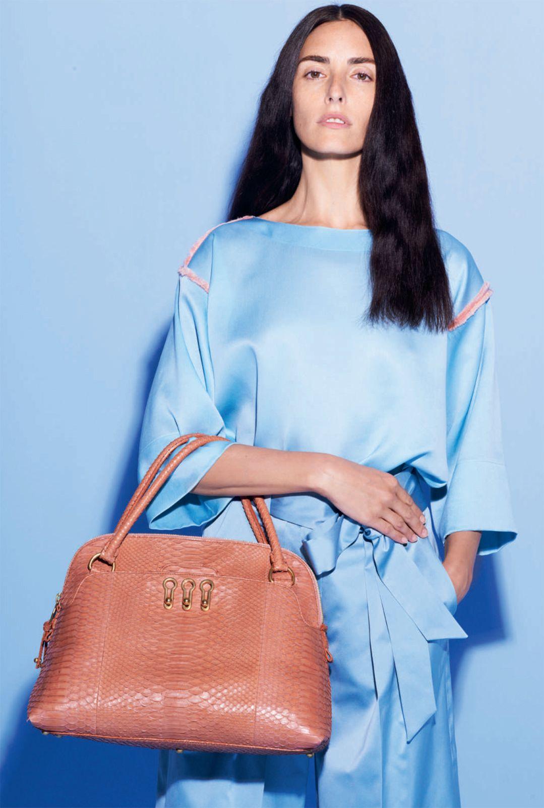 Modele lookbook – Broderies Sonia Rykiel – Bande organza effrange multicolore – Printemps ete 2013