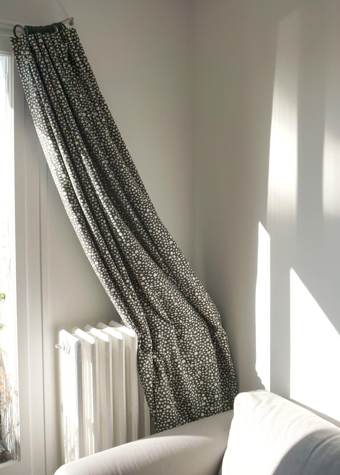 Rideau sur-mesure – Tissu coton imprime et tissu occultant