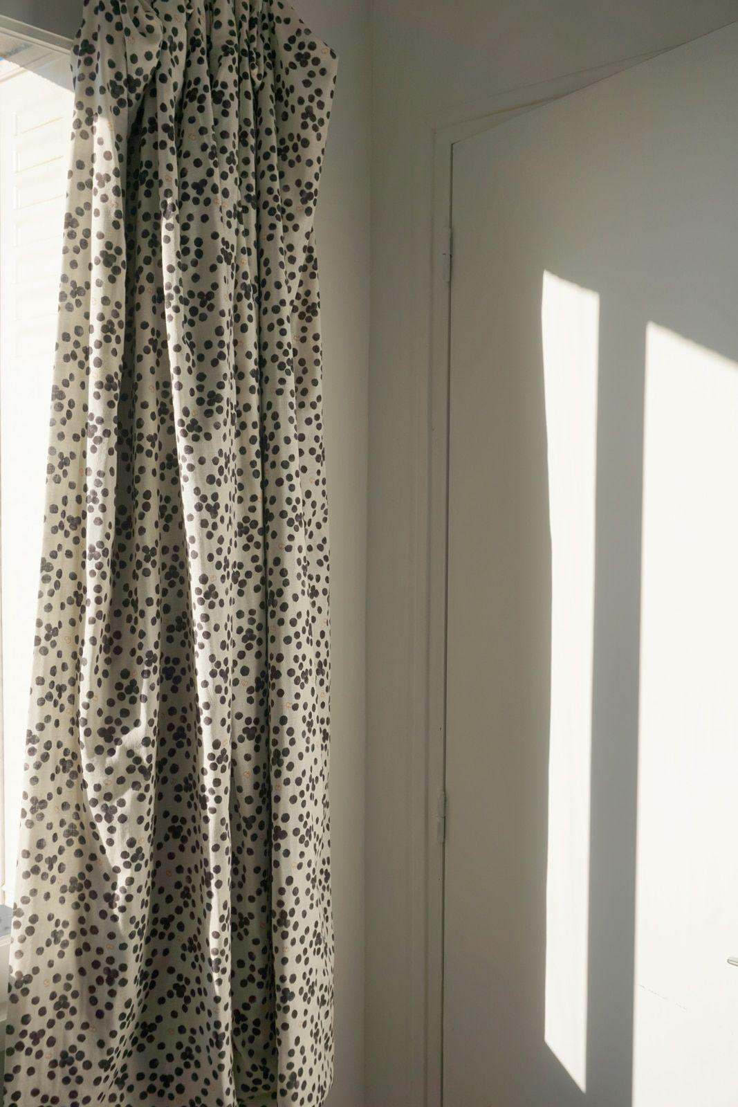 Rideau sur-mesure – Tissu coton imprime pois dalmatien