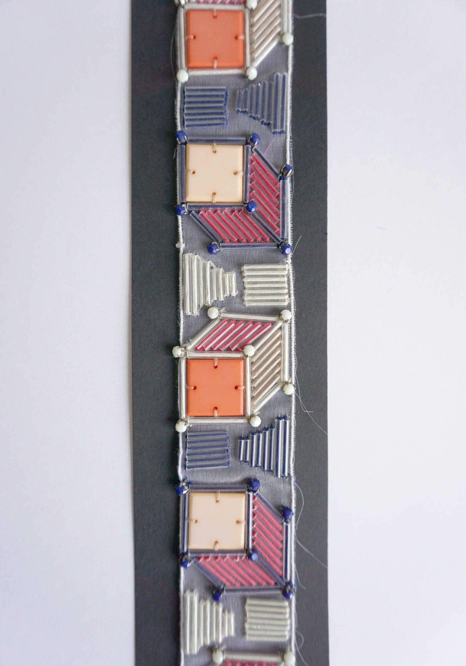 Essai brodeur – Broderies Sonia Rykiel – Perles effet 3D – Printemps ete 2013 – 2