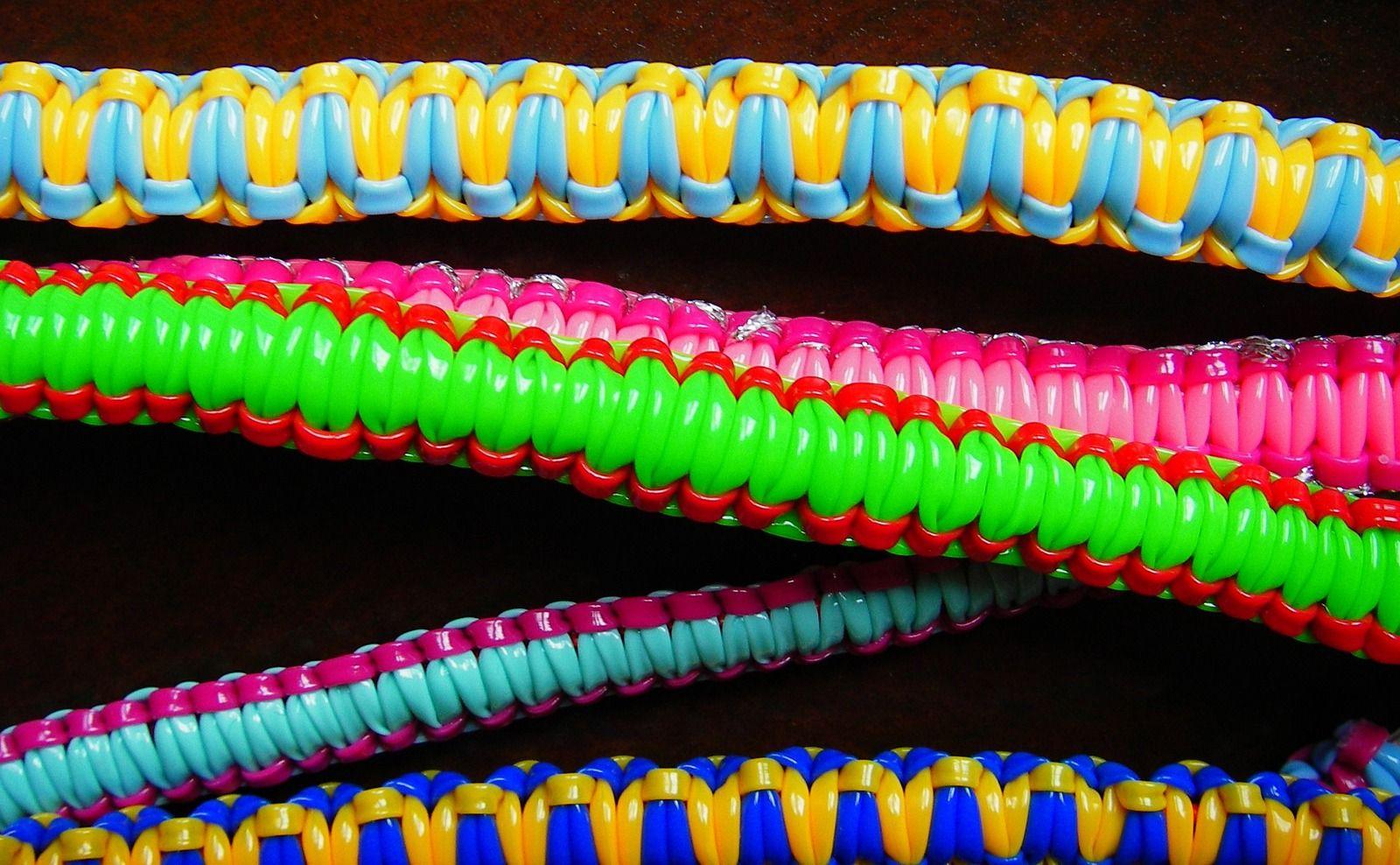 Realisation bracelet en scoubidou – Multicolore – Yazbukey – Printemps-ete 2012 – 1
