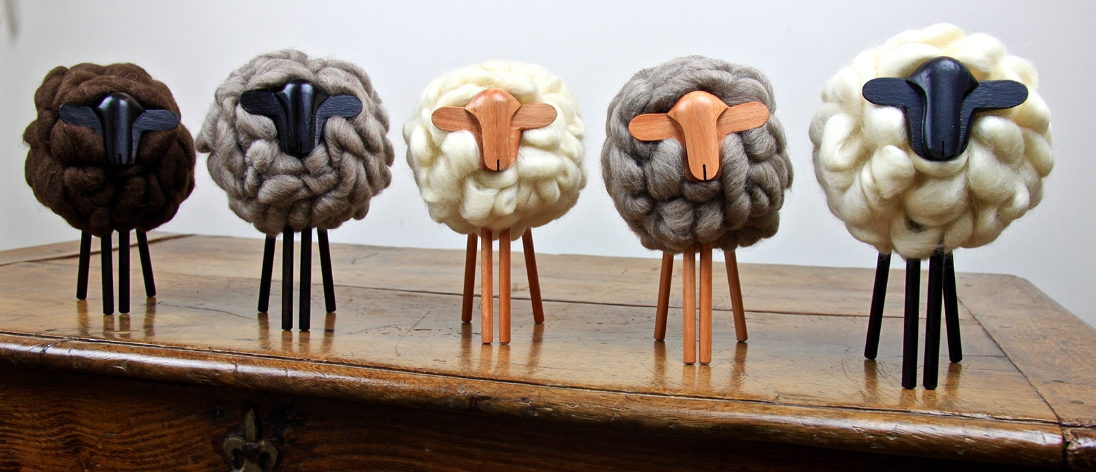 Moutons uruguayens – Laine merinos et bois – Yacana