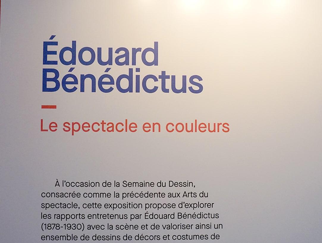 Exposition Edouard Benedictus - Le spectacle en couleurs - Blog Mars 2019 - 1