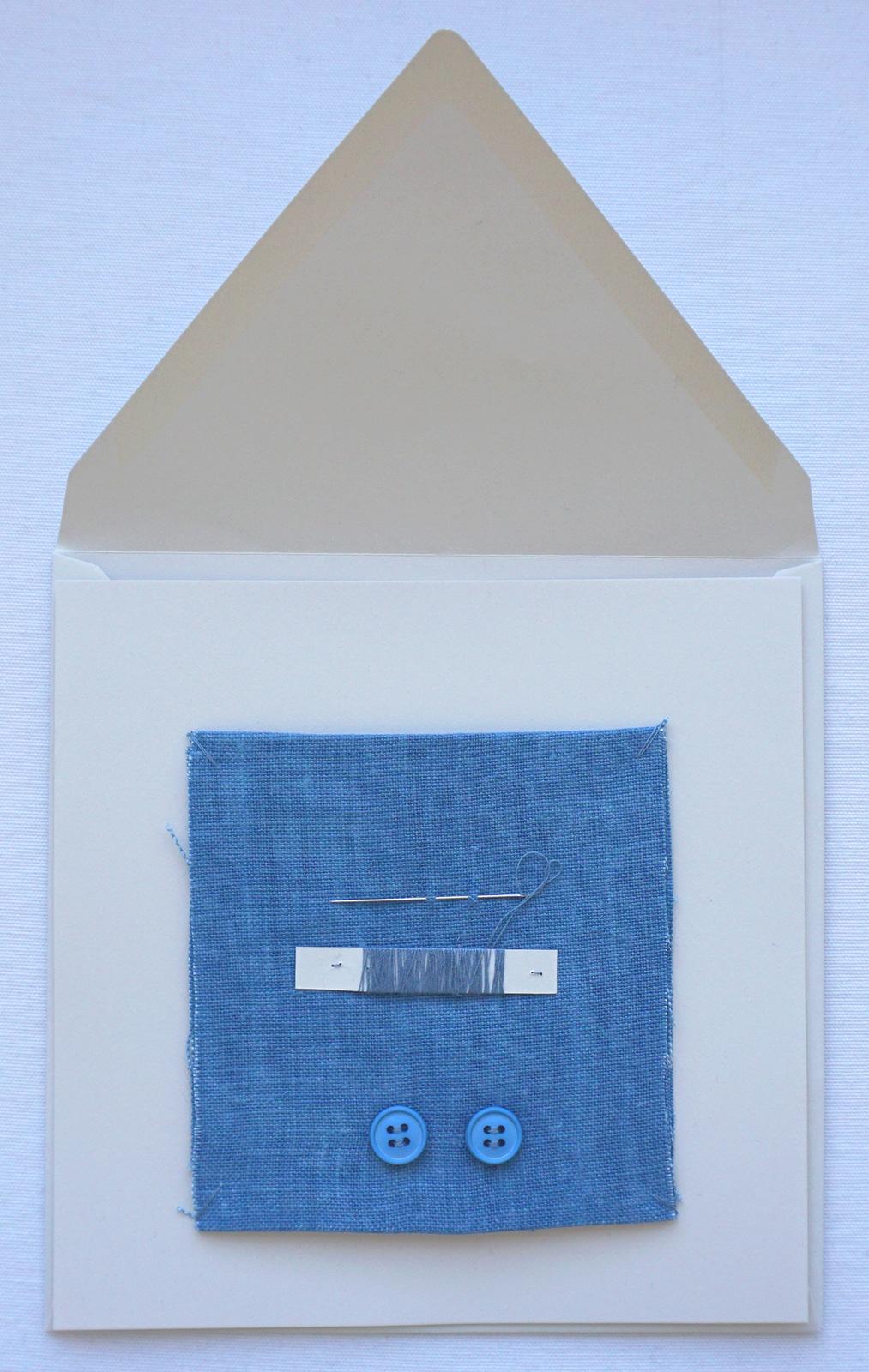 Kit d entretien – Boutons fil aiguille tissu – Chemise – Projet Bleu – Studio sur-mesure