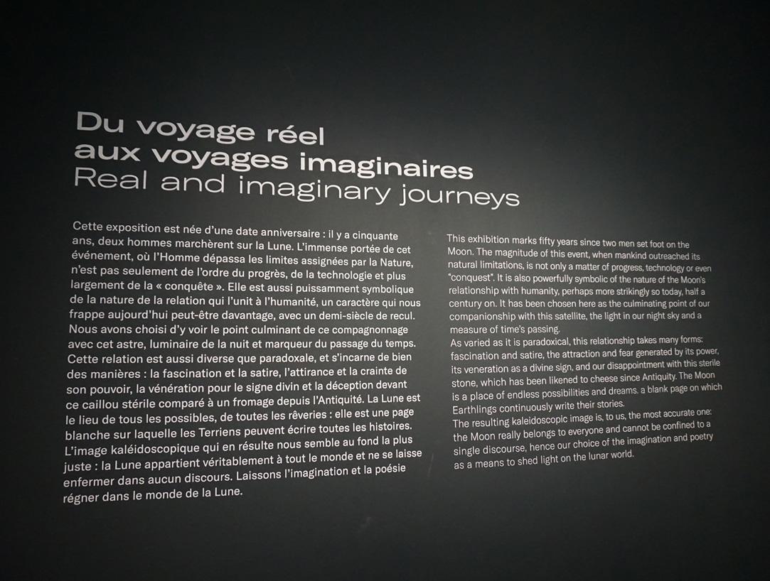 Exposition Lune - Du voyage reel aux voyages imaginaires - Grand Palais - Blog Juillet 2019 - 1