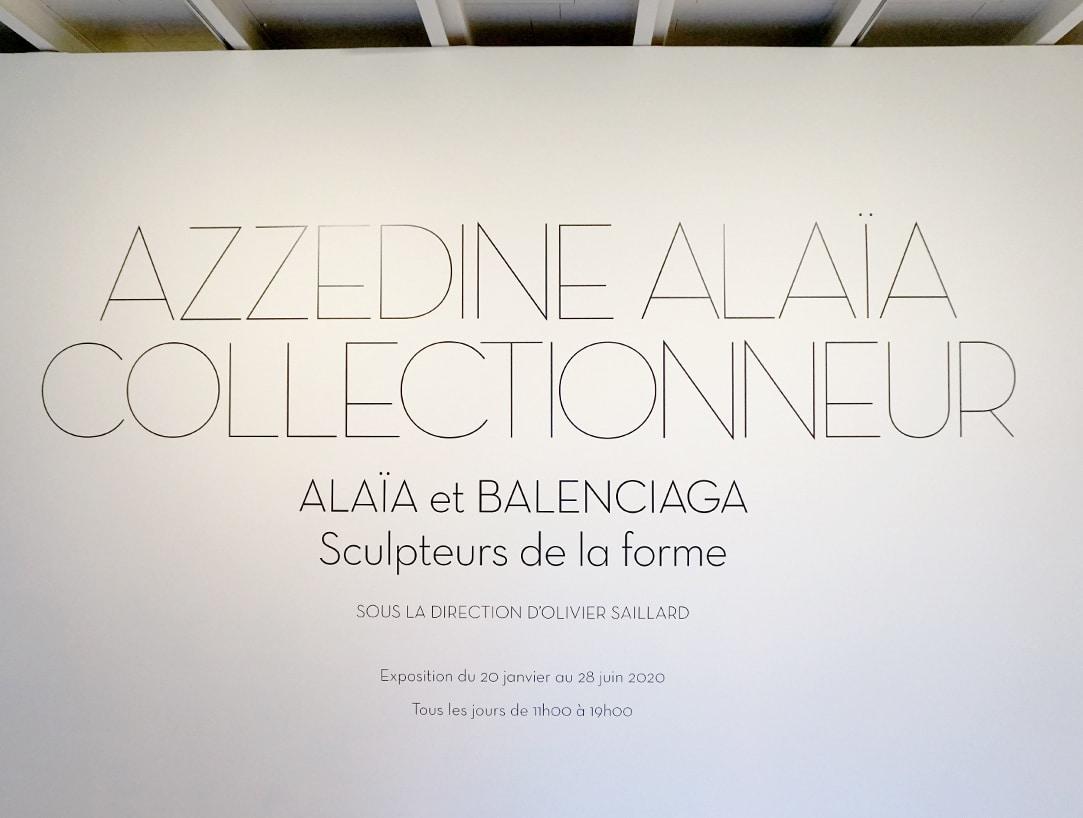 Exposition Azzedine Alaia - Collectionneur - Alaia et Balenciaga - Sculpteurs de la forme - Blog Janvier 2020 - 1